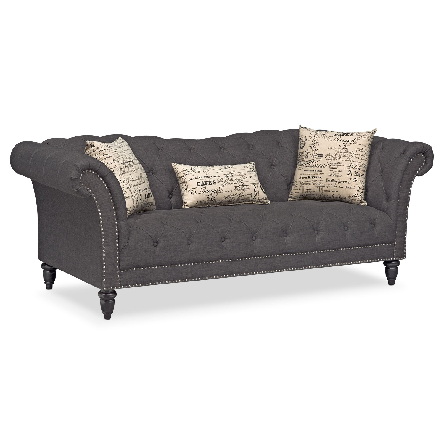 Marisol Sofa - Charcoal | American Signature Furniture