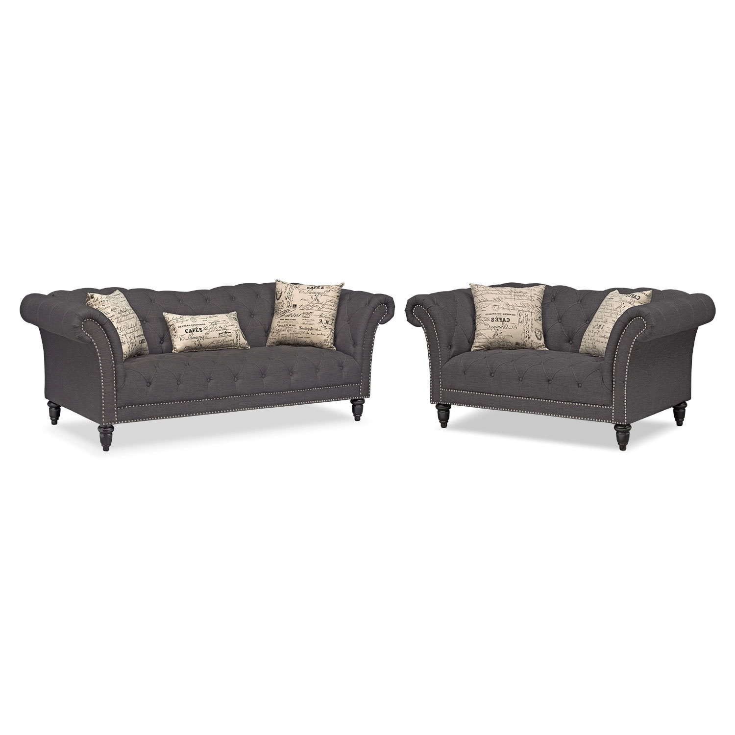 The Marisol Collection - Charcoal | American Signature Furniture