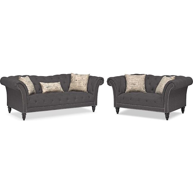 Living Room Furniture - Marisol Sofa and Loveseat