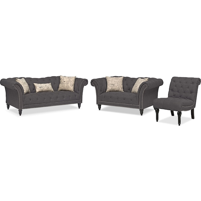 Living Room Furniture - Marisol Sofa, Loveseat and Chair