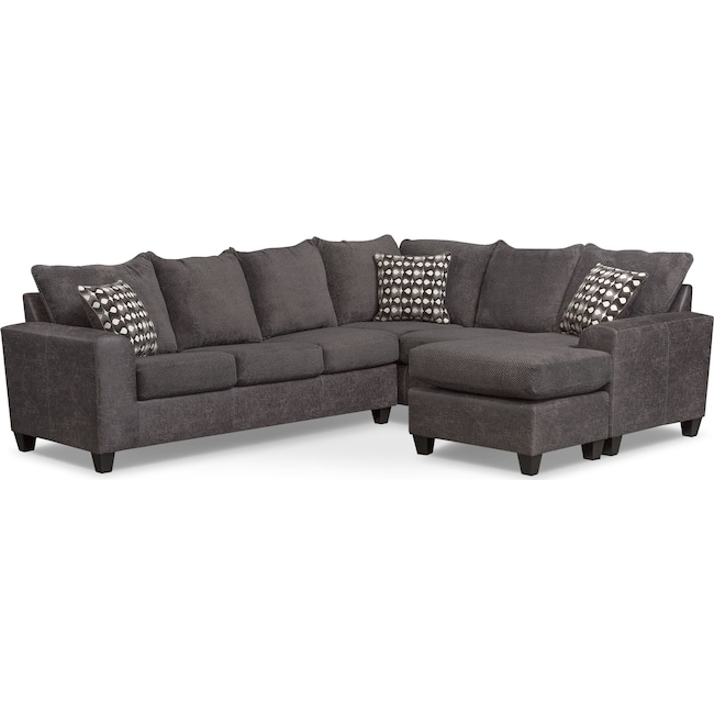 Living Room Furniture - Brando 3-Piece Sleeper Sectional
