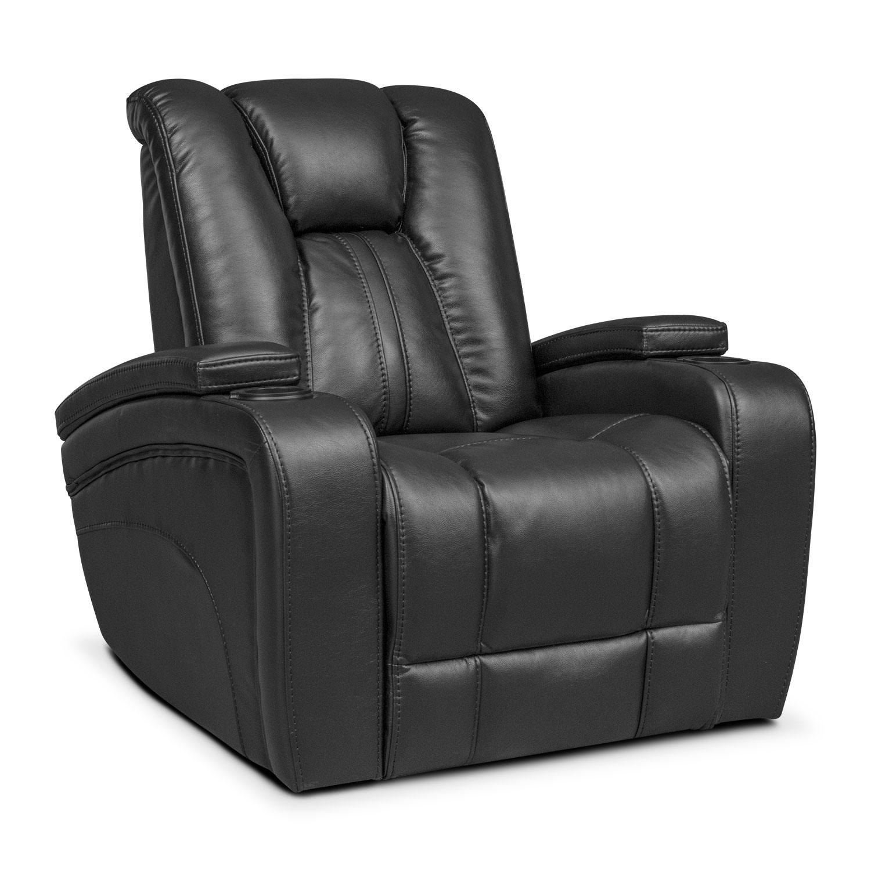 Living Room Furniture - Pulsar Power Recliner - Black