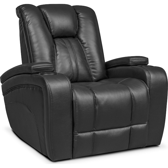 Living Room Furniture - Pulsar Power Recliner - Black