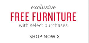 exclusive free furniture with select purchases. shop now.