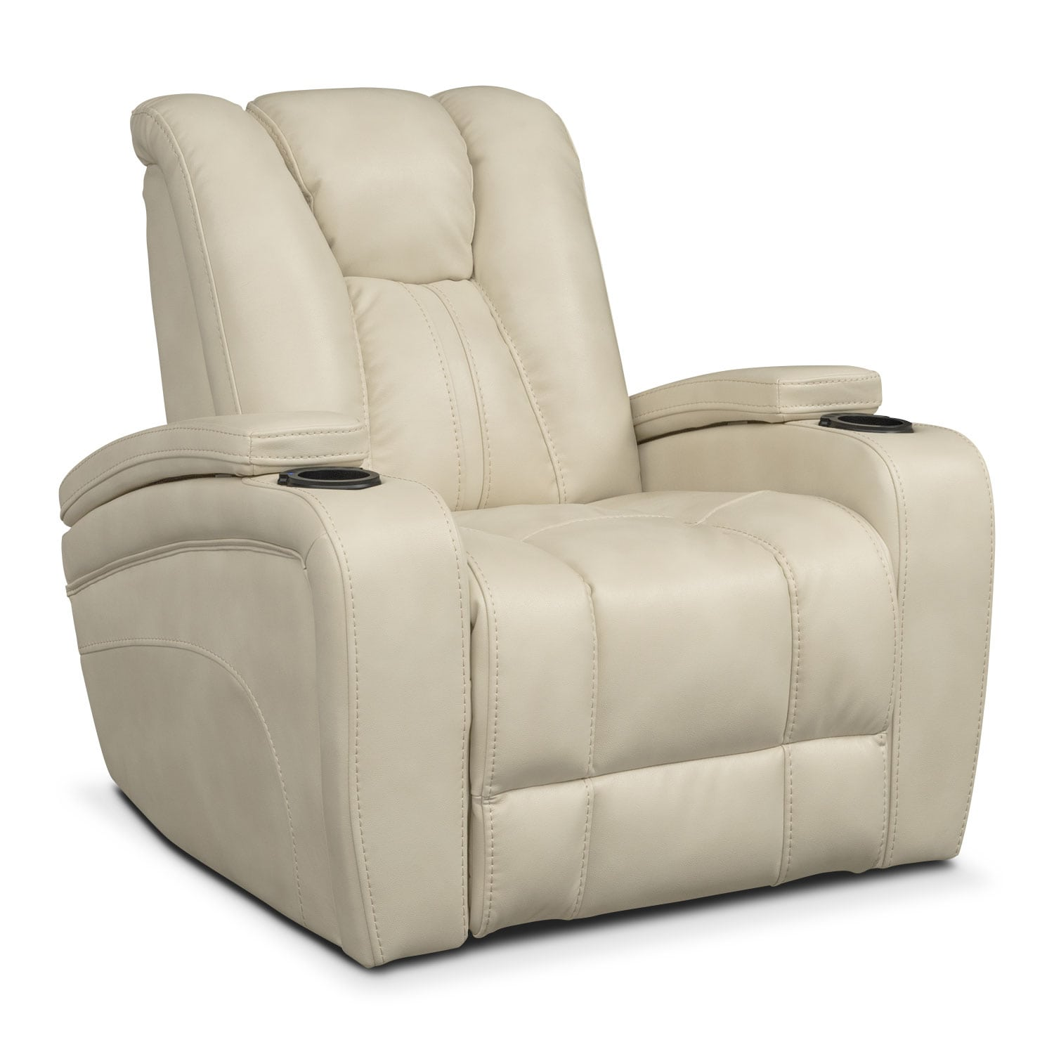 Living Room Furniture - Pulsar Power Recliner - Cream