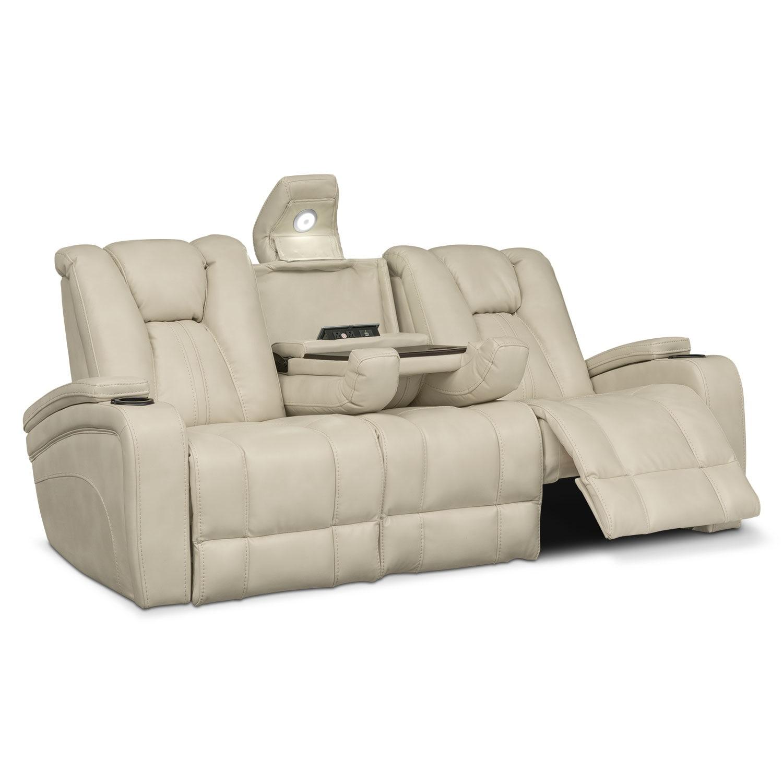 Pulsar Dual Power Reclining Sofa Cream American