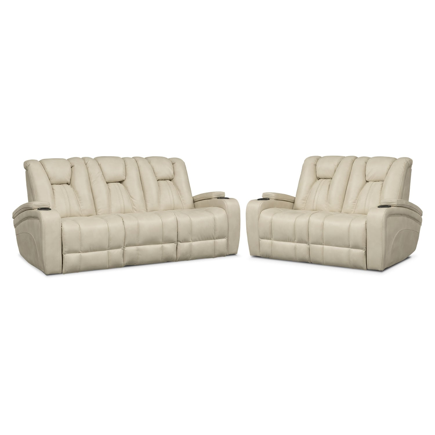 Pulsar dual power reclining sofa and power recliner set Power reclining sofas and loveseats