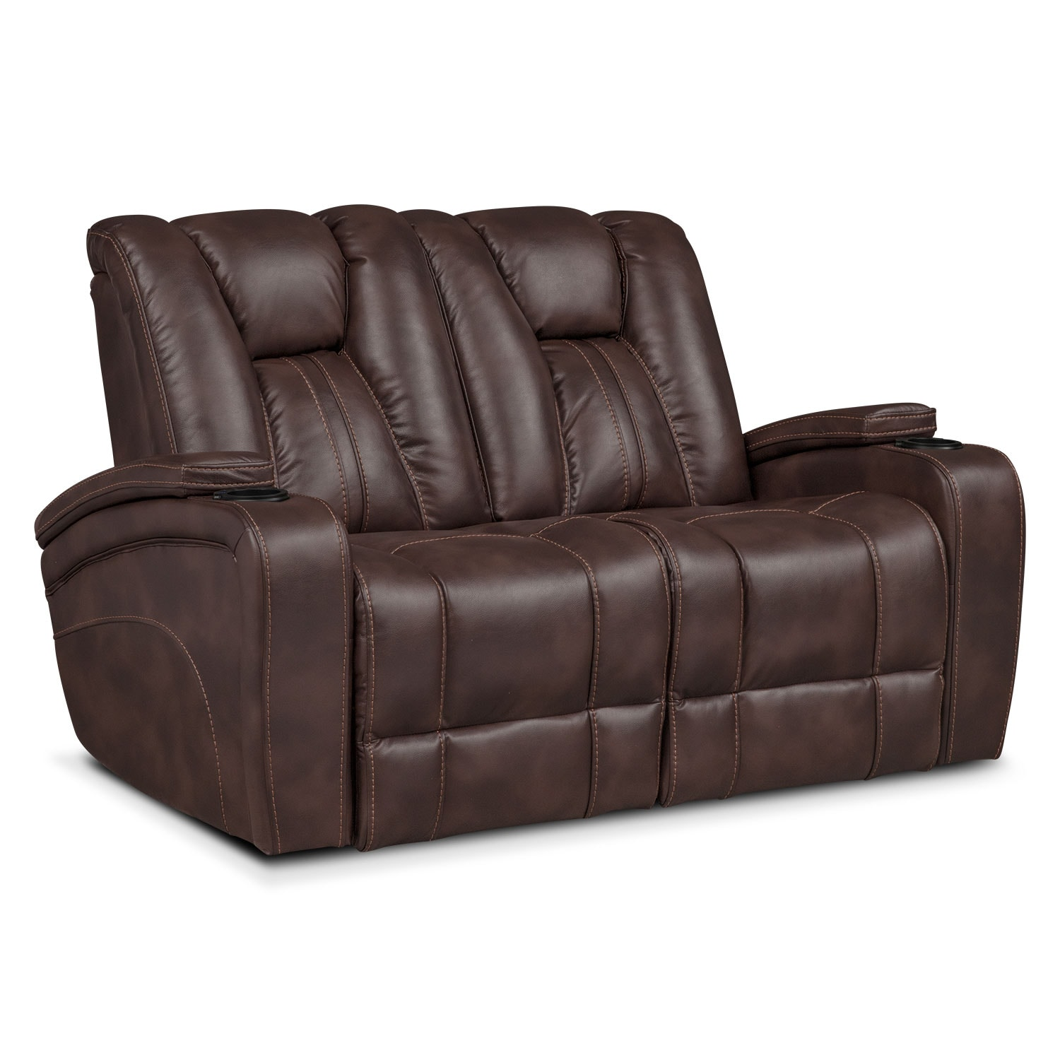 Pulsar Power Reclining Sofa, Power Reclining Loveseat And Power Recliner  Set   Brown