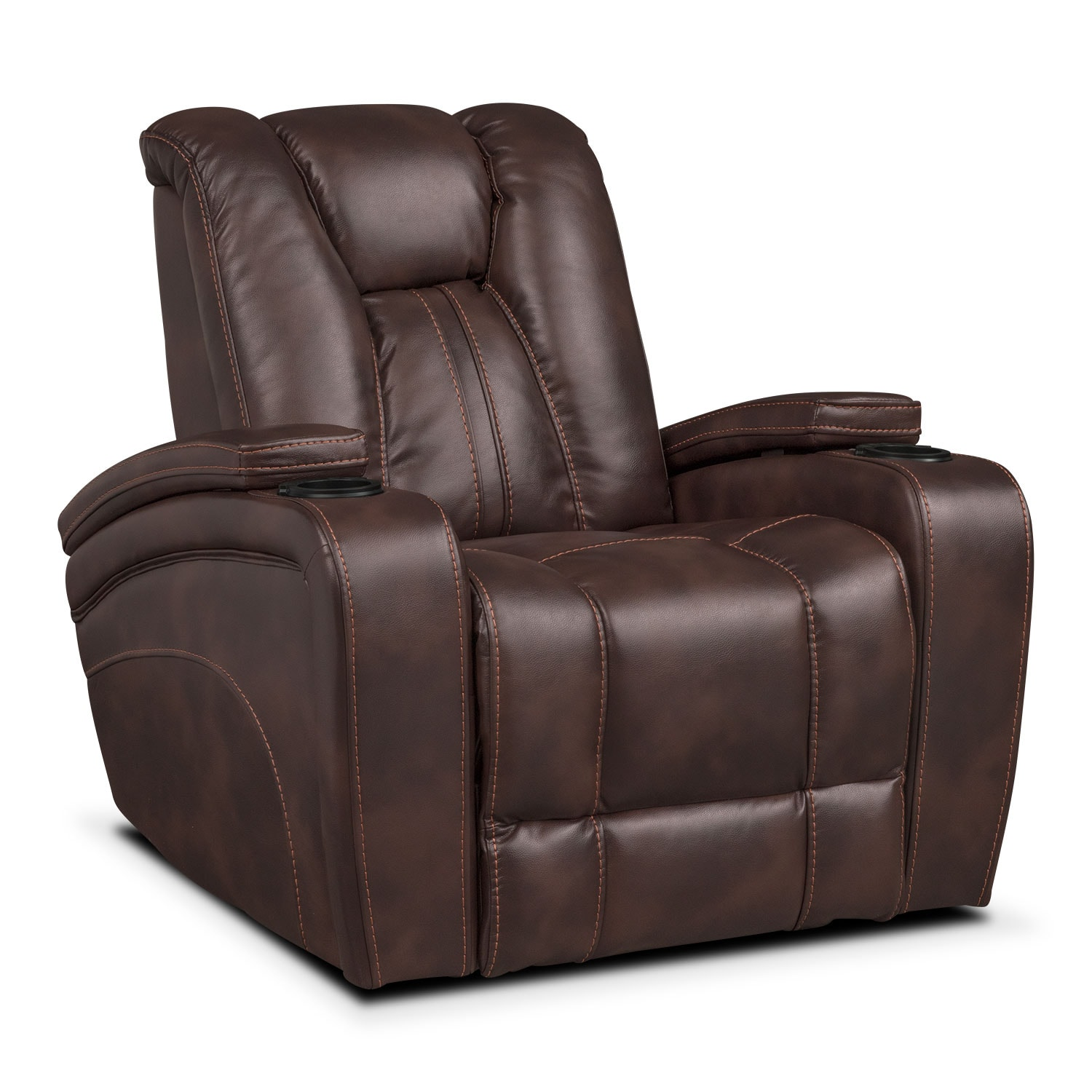 Pulsar power reclining sofa power reclining loveseat and power recliner set brown american Power loveseat recliner