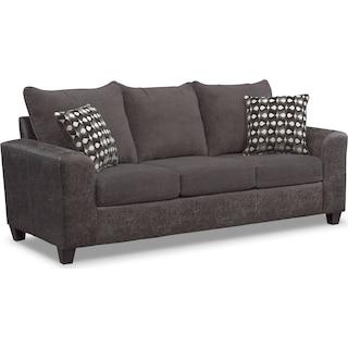 Brando Queen Memory Foam Sleeper Sofa - Smoke
