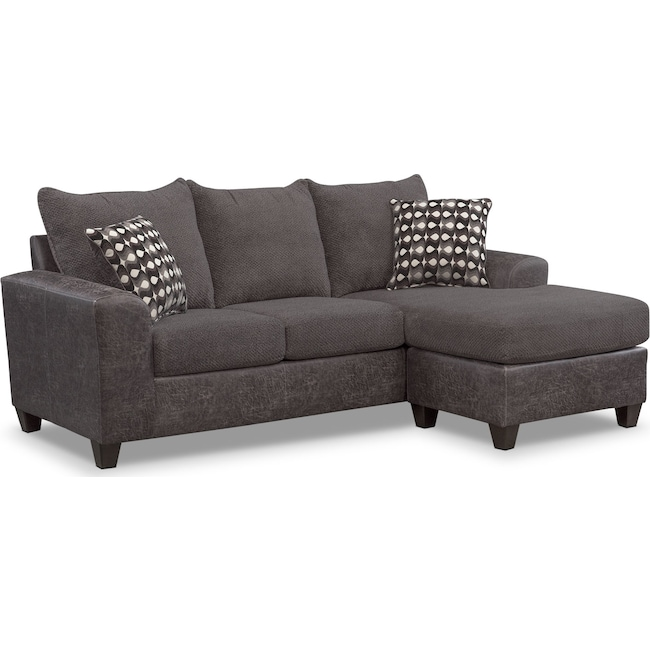 Living Room Furniture - Brando 2-Piece Sofa with Chaise