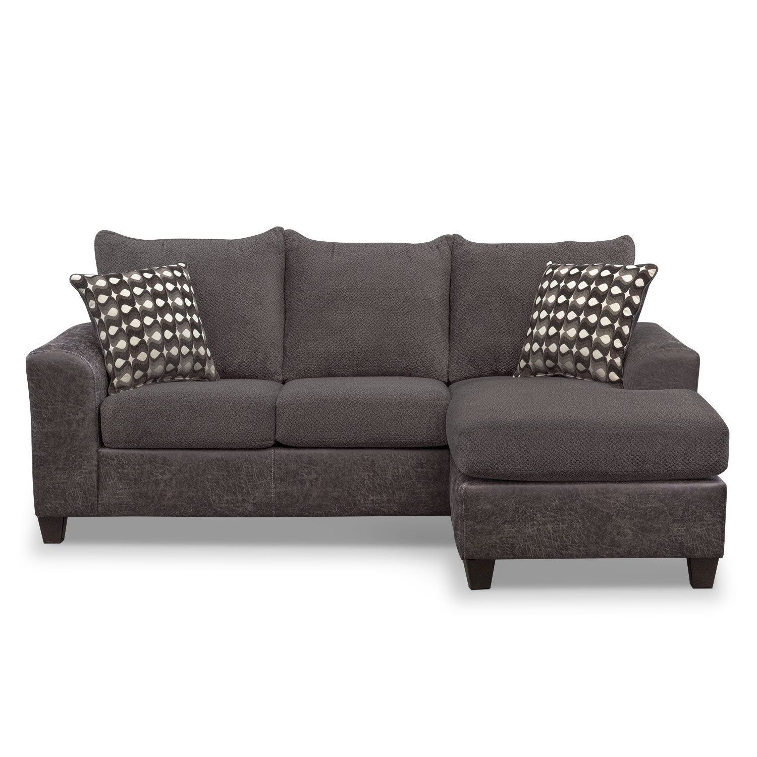 furniture wolf with and by chaise sectional sofa products lounge klaussner gardiner reversible