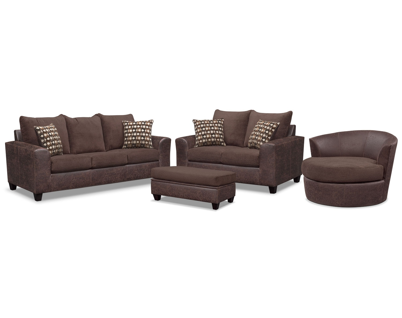 The Brando Living Room Collection - Chocolate