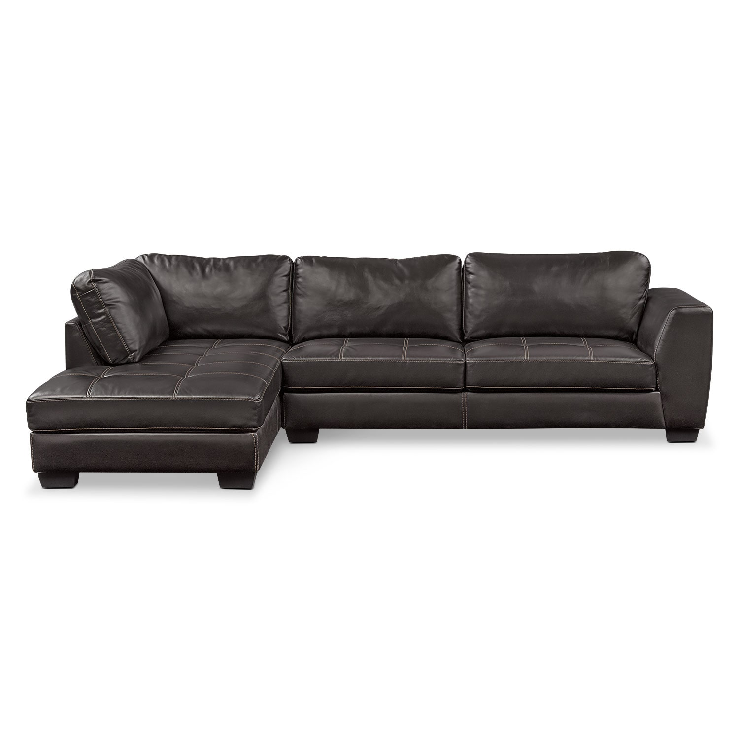Santana 2 piece sectional with left facing chaise black for 2 piece sectional sofa with chaise