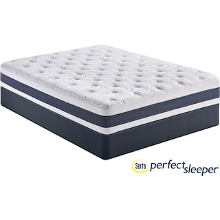 Shadow Falls Plush California King Mattress and Split Foundation Set