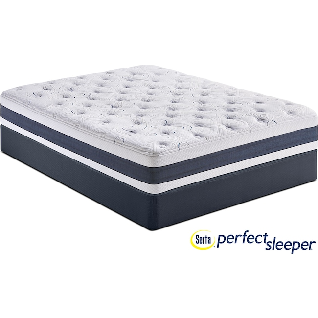 Mattresses and Bedding - Shadow Falls Plush Full Mattress and Low-Profile Foundation Set