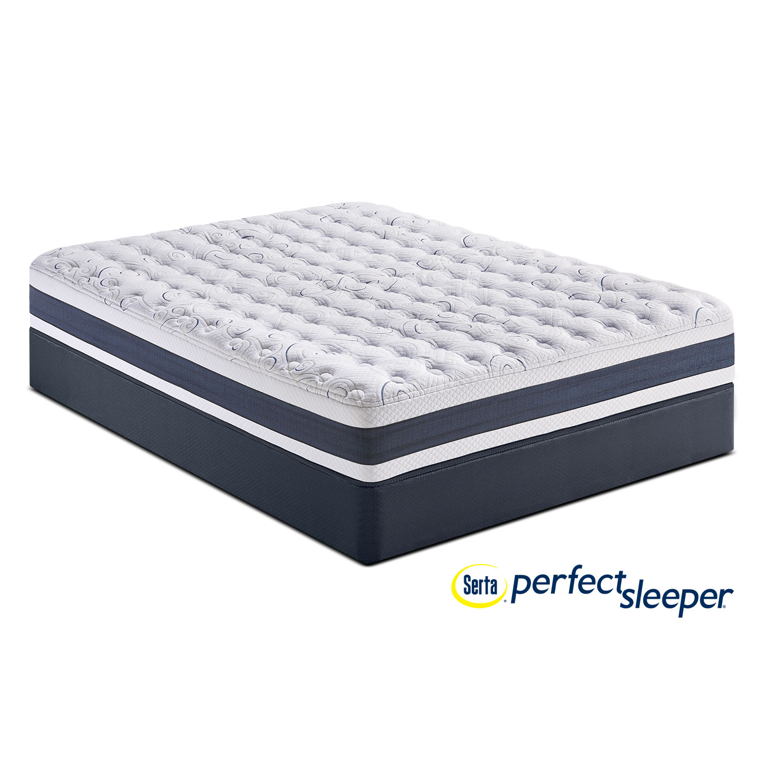 Mattresses and Bedding - Strathfield Firm Queen Mattress and Low-Profile Foundation Set