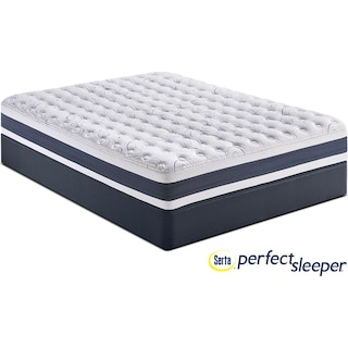 Strathfield Firm King Mattress and Split Low-Profile Foundation Set