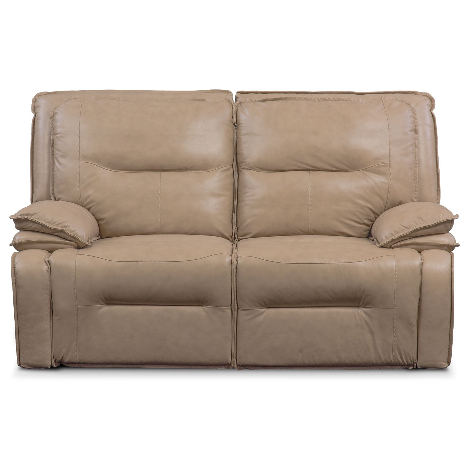 Nikki 2 Piece Power Reclining Sectional Taupe American