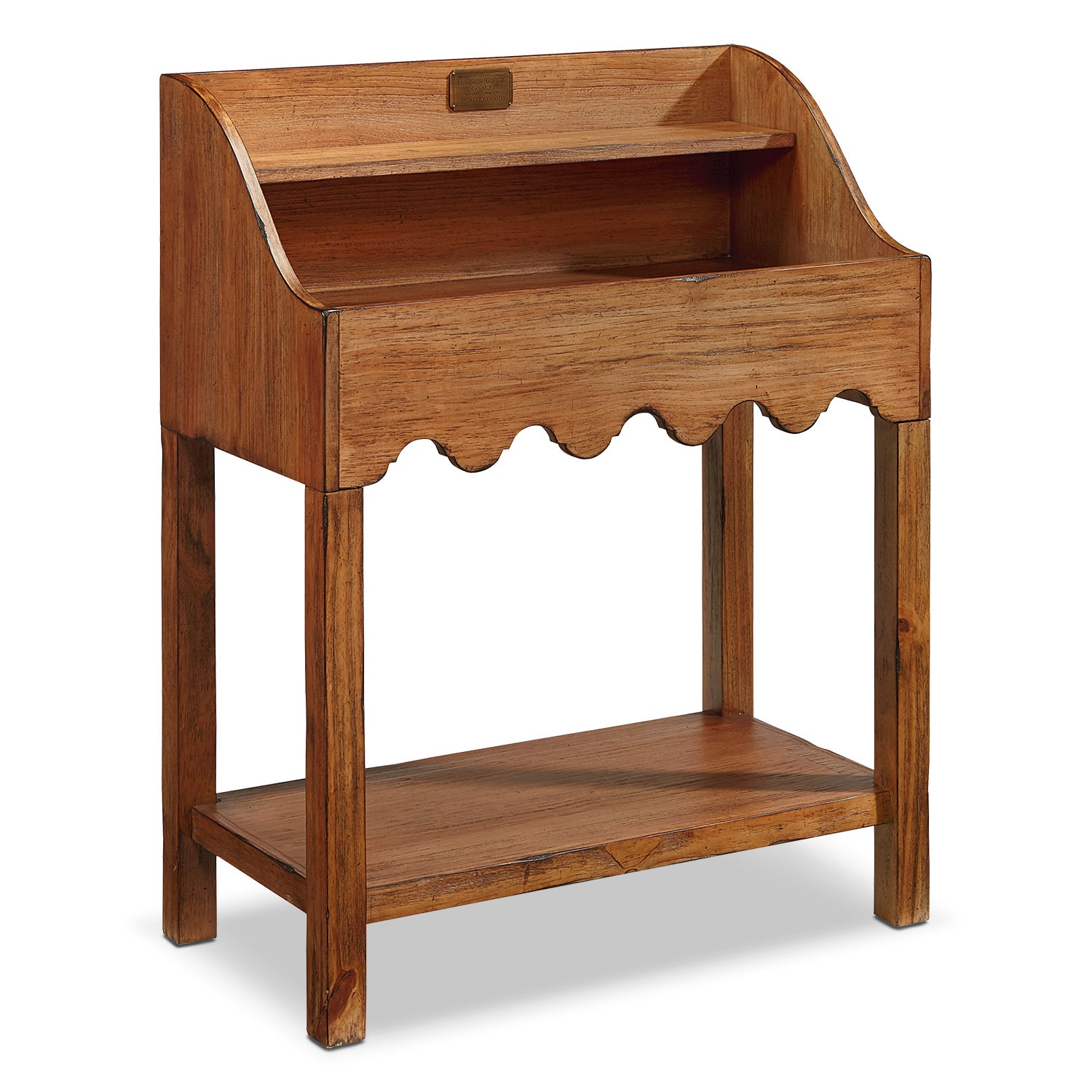 Accent and Occasional Furniture - Farmhouse Scallop Bin Table