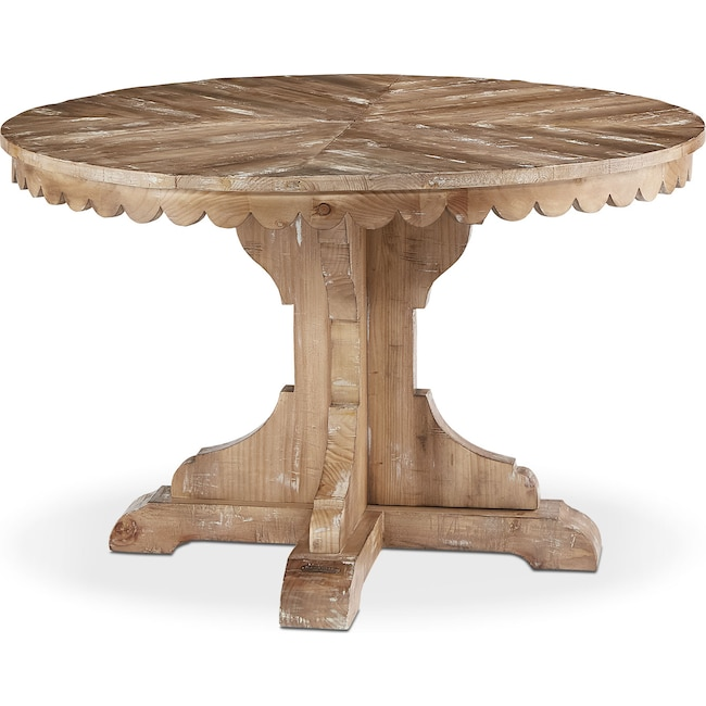 Dining Room Furniture - Farmhouse Top Tier Pedestal Table