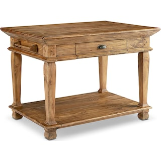 Swedish Farm Kitchen Island - Bench
