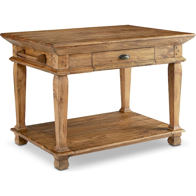 Accent and Occasional Furniture - Swedish Farm Kitchen Island - Bench