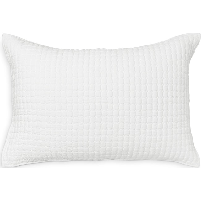 Accent and Occasional Furniture - Catalina King Sham - White