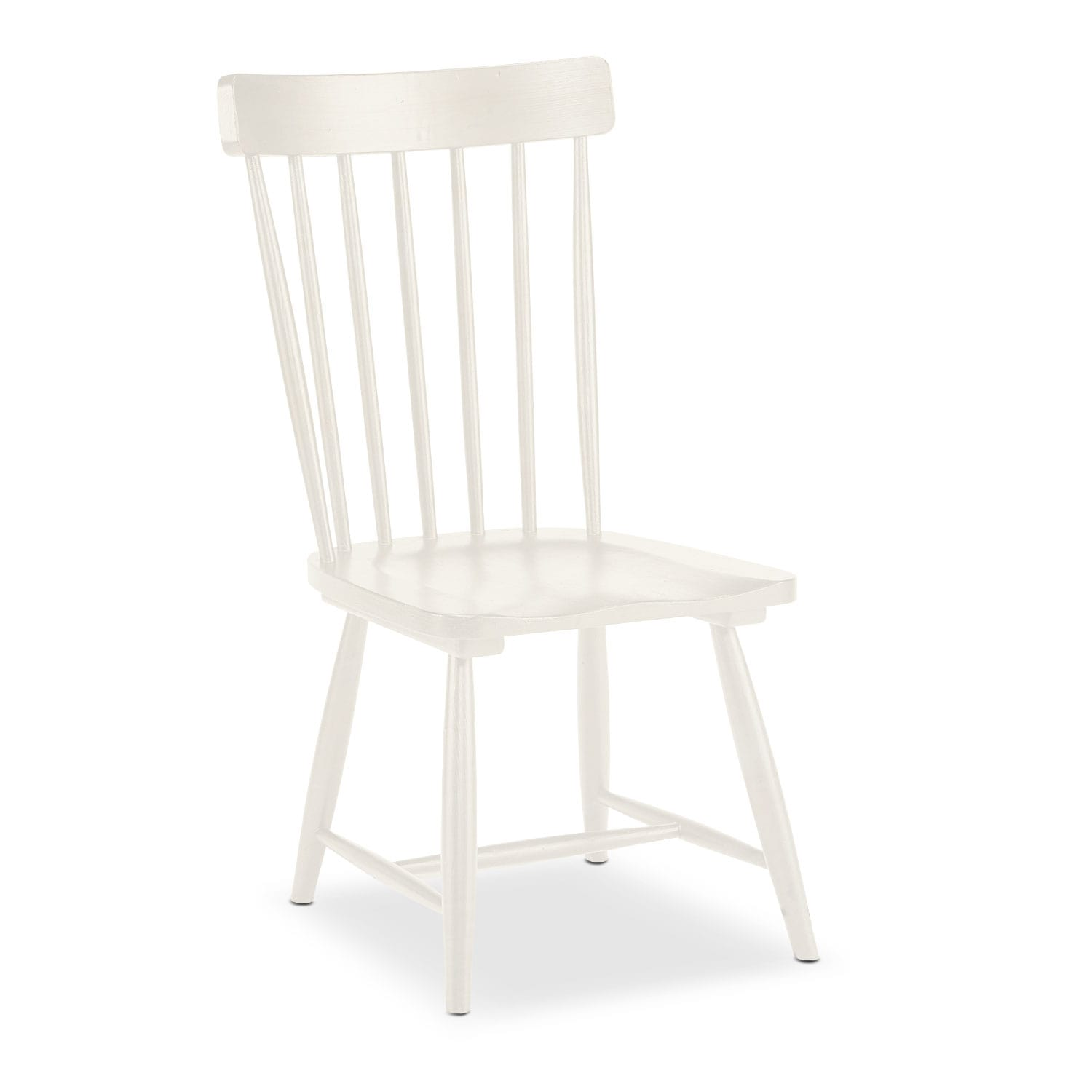 Set of 2 Farmhouse Spindle Back Side Chairs - White