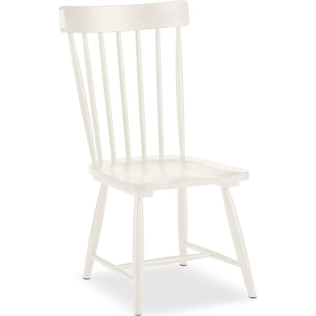 Dining Room Furniture - Set of 2 Farmhouse Spindle Back Side Chairs - White