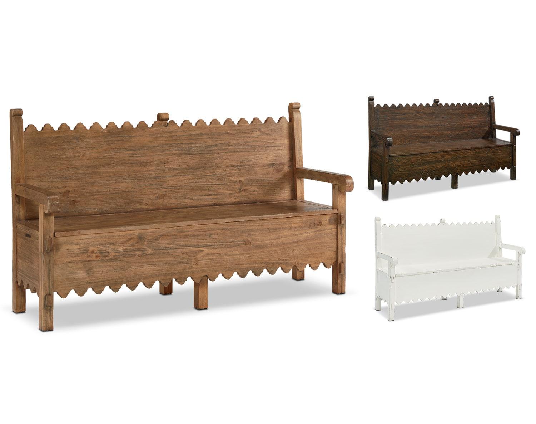 The Farmhouse Scallop Bench Collection