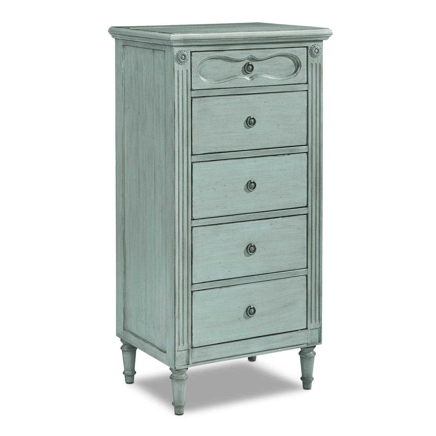 Bedroom Furniture - Cameo Demi-Chest - French Blue