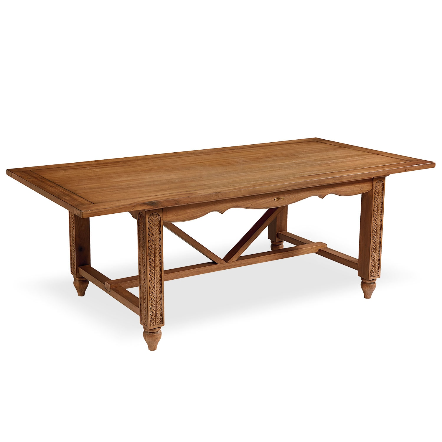 Dining Room Furniture - Leaf Carved Dining Table - Bench