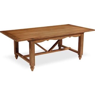 Leaf Carved Dining Table - Bench