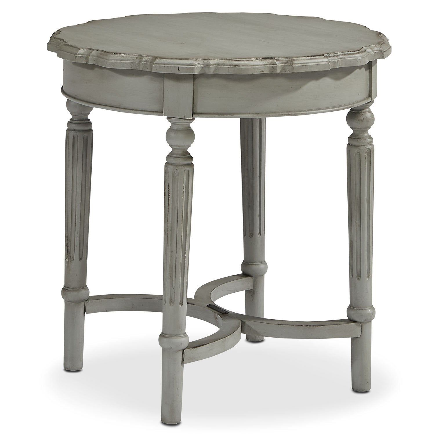 Pie Crust Short Table - Dove Grey