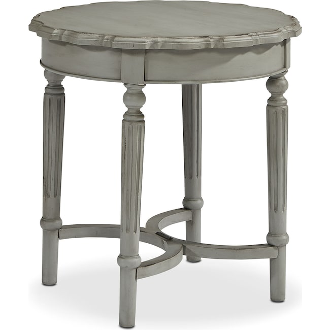 Accent and Occasional Furniture - Pie Crust Short Table - Dove Grey