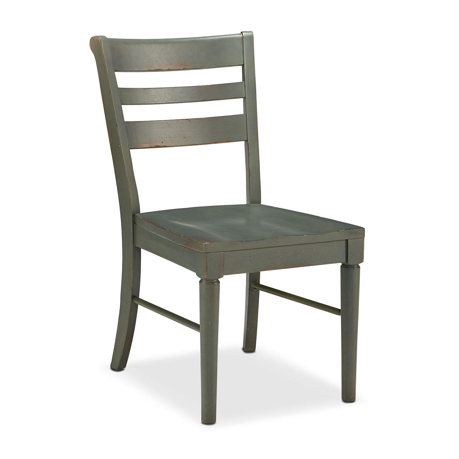 Kempton Slat Back Chair - Patina
