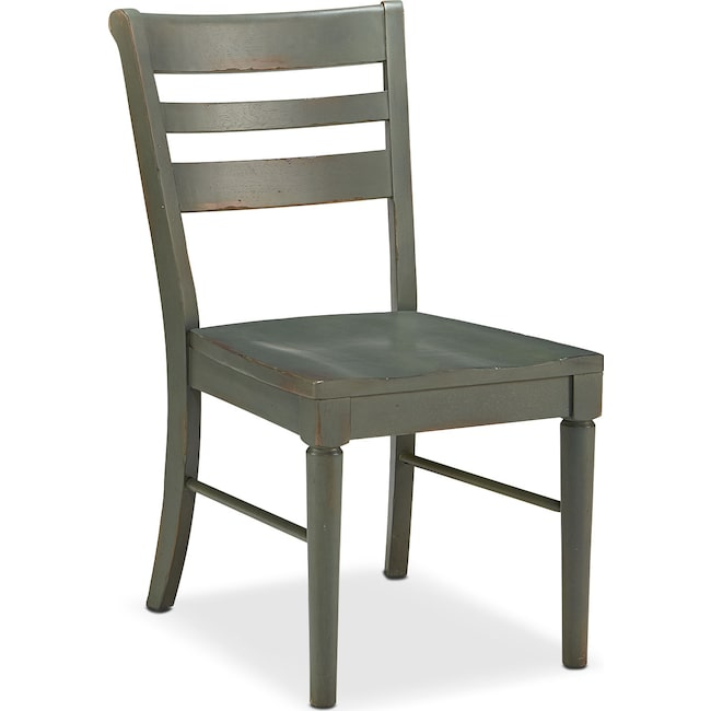 Dining Room Furniture - Set of 2 Kempton Slat Back Chairs - Patina