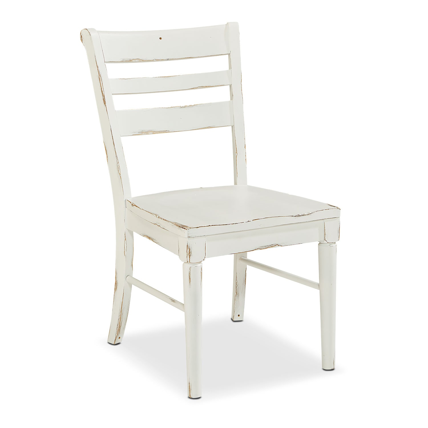 Dining Room Furniture - Kempton Slat Back Chair - White