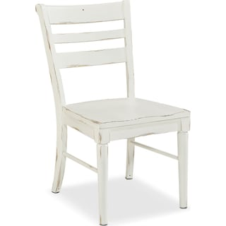 Set of 2 Kempton Slat Back Chairs - White