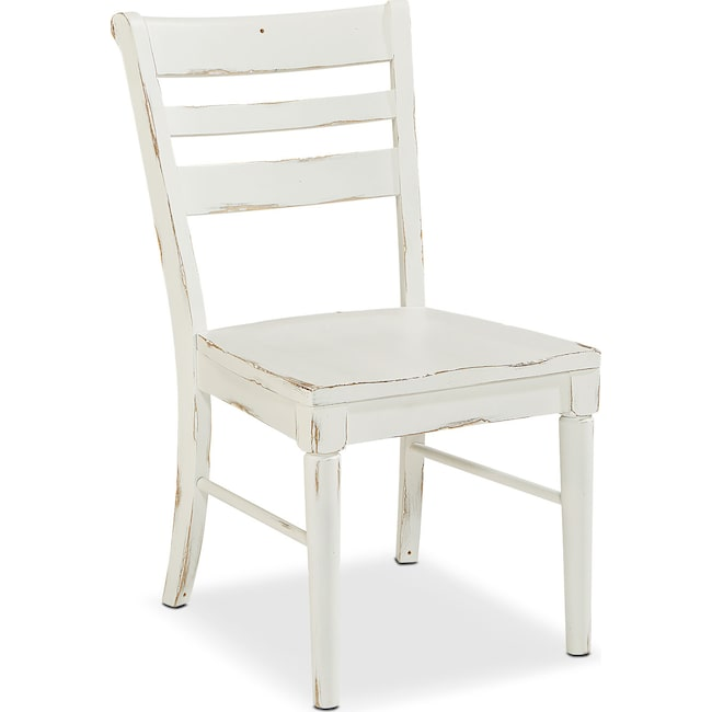 Dining Room Furniture - Set of 2 Kempton Slat Back Chairs - White