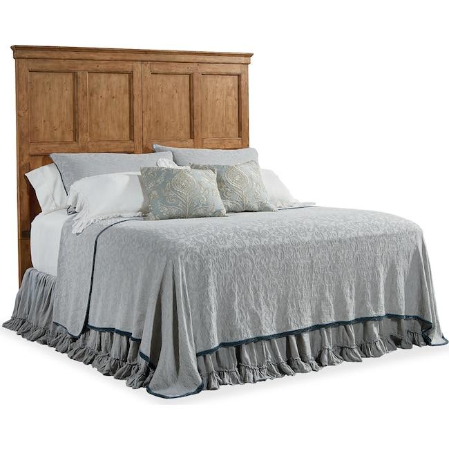 Bedroom Furniture - Primitive Door Panel King Headboard - Bench