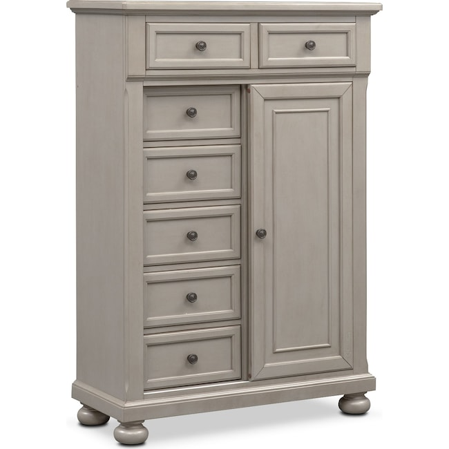 Bedroom Furniture - Hanover Door Chest- Gray