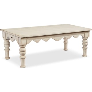 Scallop Coffee Table - Antique White