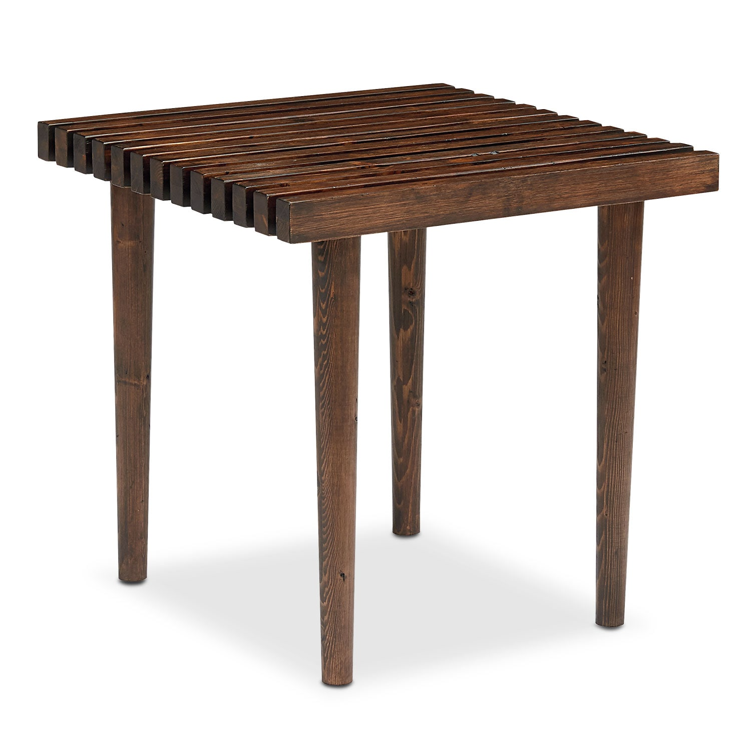 Slat End Table