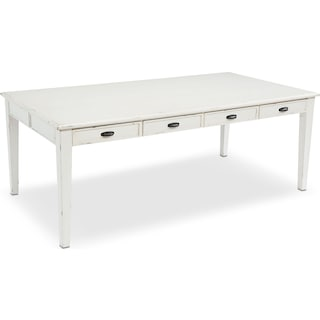 8' Farmhouse Keeping Table - Antique White