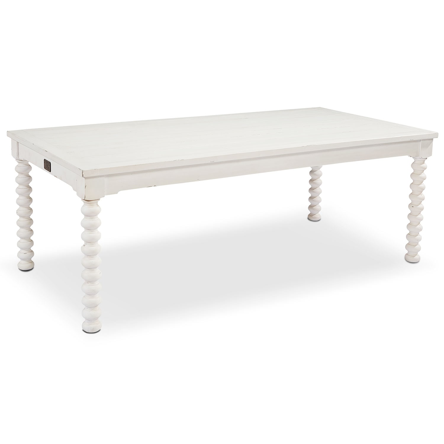 7' Spool Leg Dining Table - White