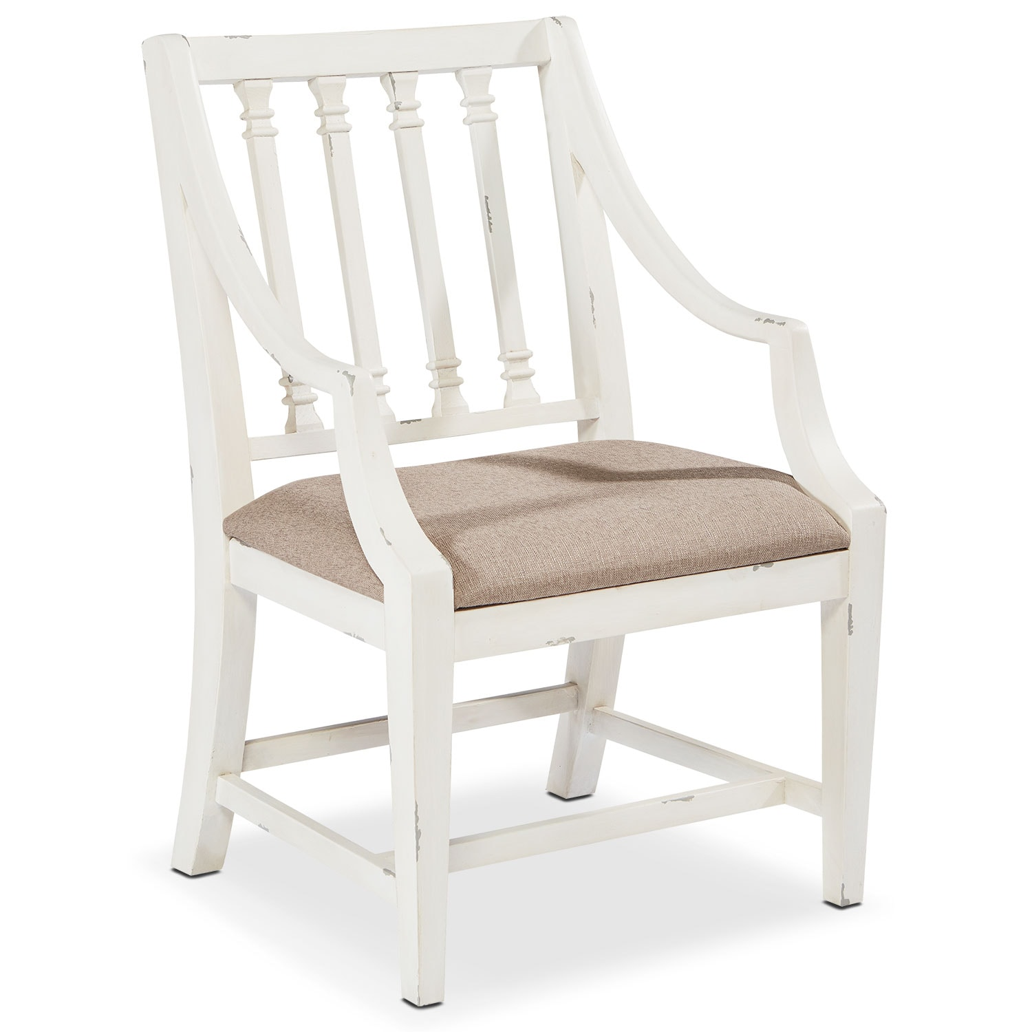 Dining Room Furniture - Revival Arm Chair - White