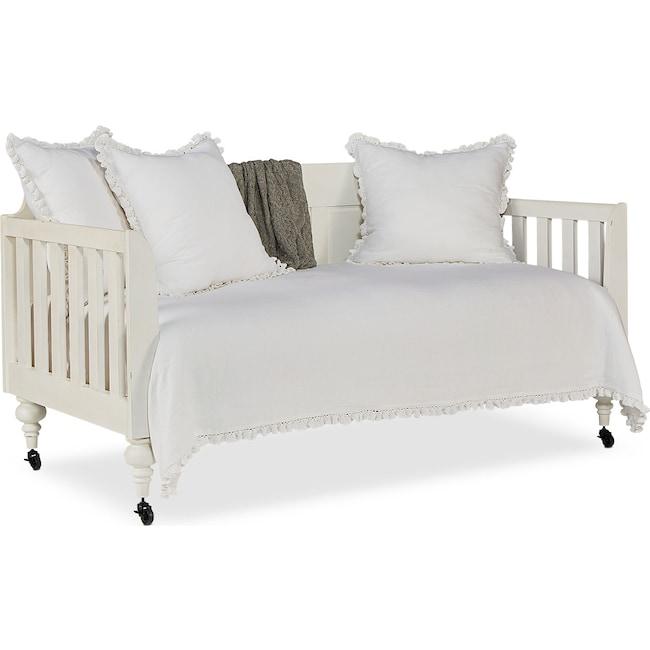 Bedroom Furniture - Primitive Framed Panel Daybed - White