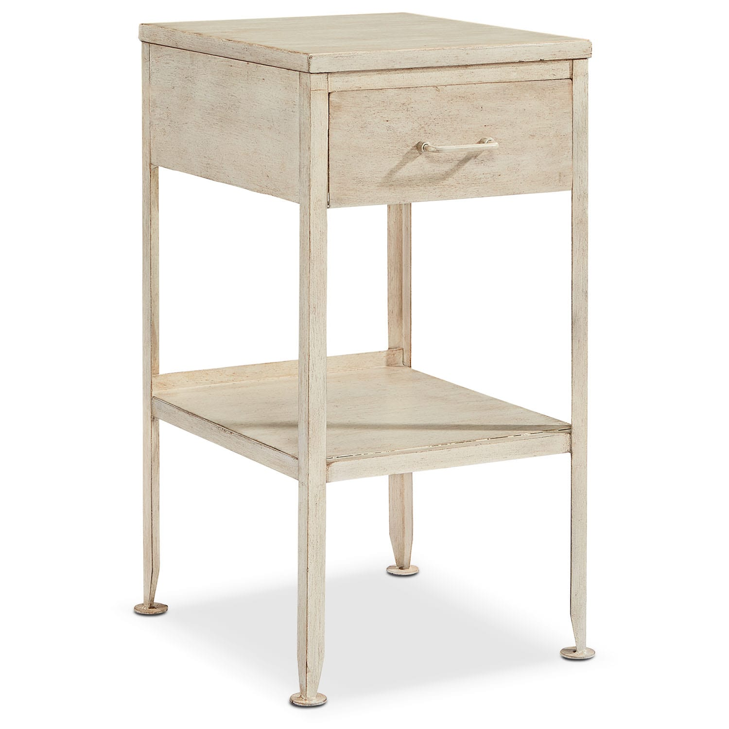 Metal Utility Side Table - Antique White